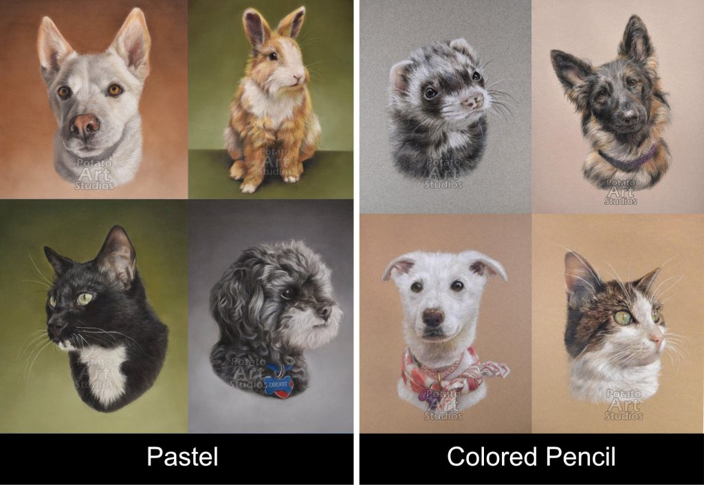 what s the difference between colored pencils and pastels potato art studios